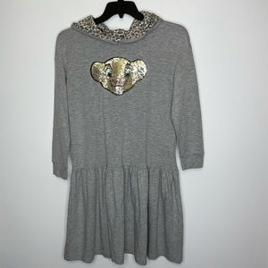 The Lion King Grey Hooded Dress. Size XXL